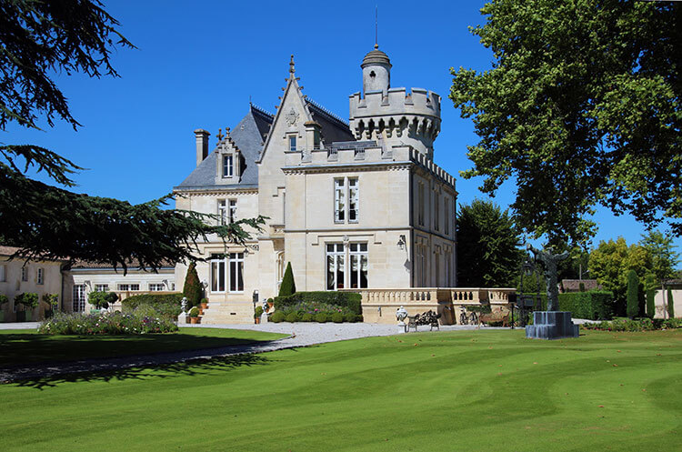 The exterior of the castle of Château Pape Clement