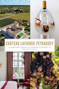 Chateau Lafaurie-Peraguey, Bommes, Sauternes, France Pinterest Pin