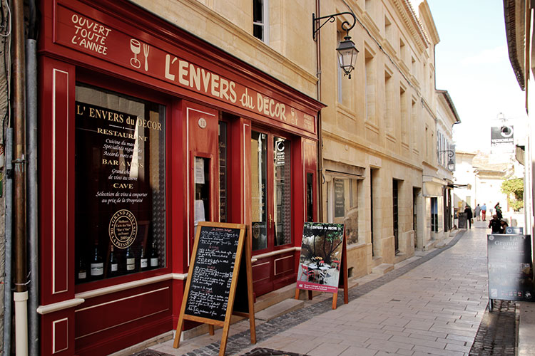 Exterior of L'Envers du Decor in Saint-Émilion