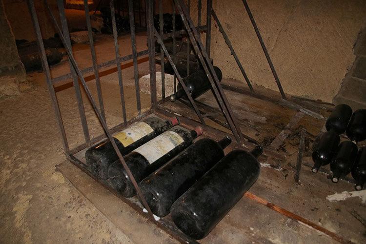 Four Melchoir bottles hold the equivalent of 24 bottles of wine each at Château de Bonhoste