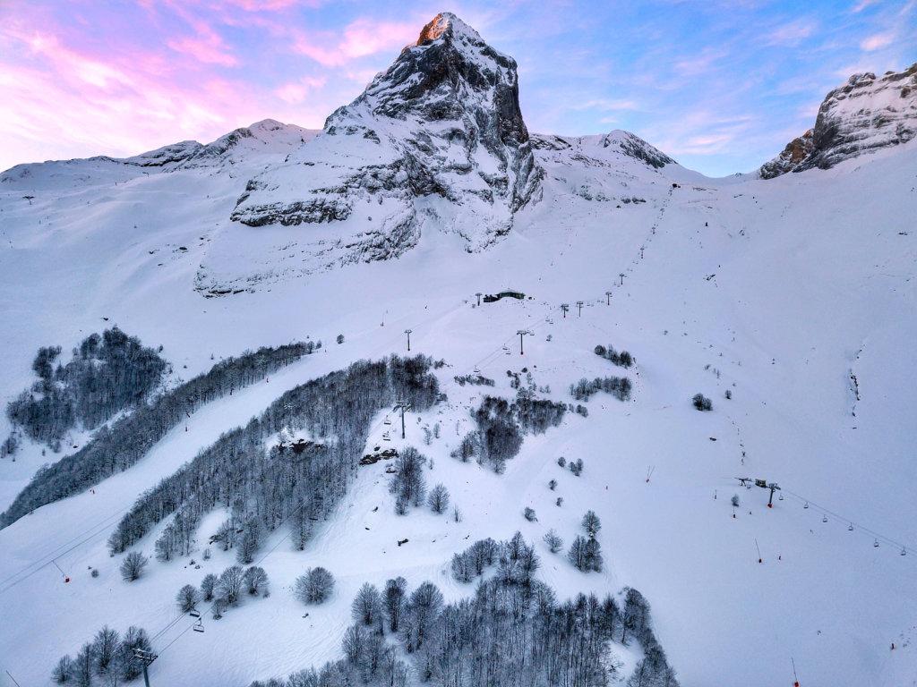 Gourette ski area aerial shot