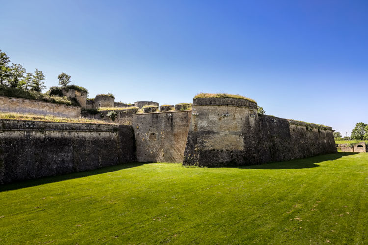The moat of the Citadelle de Blaye
